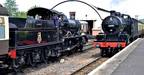 No. 7822 'Foxcote Manor'& No. 53808 'S&D' 2-8-0 'British Railways' on Dennis Basford's railsroadsrunways.blogspot.co.uk'