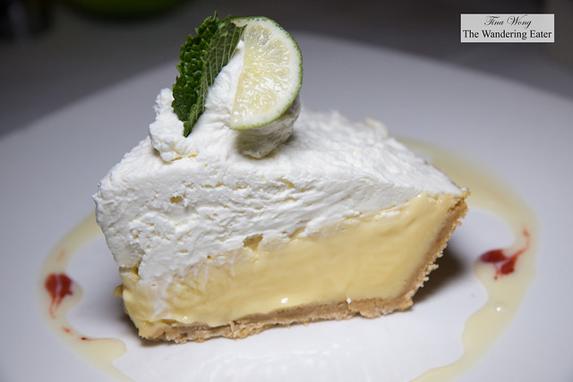 Key lime pie with whipped cream