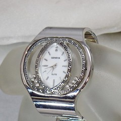 Ladies Watch. Silver Rhinestone Ladies Watch. Geneve Elite.  Blingy Women's Watch. Silver Rhinestone Watch. Jewelry for Women. waalaa.