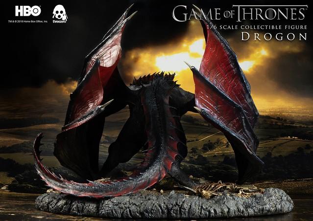 將一切燃燒殆盡的兇暴飛龍!! threezero《冰與火之歌:權力遊戲》卓耿 Drogon 1/6 比例人偶作品