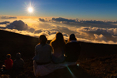 Sunset watching on Haleakala Maui Hawaii