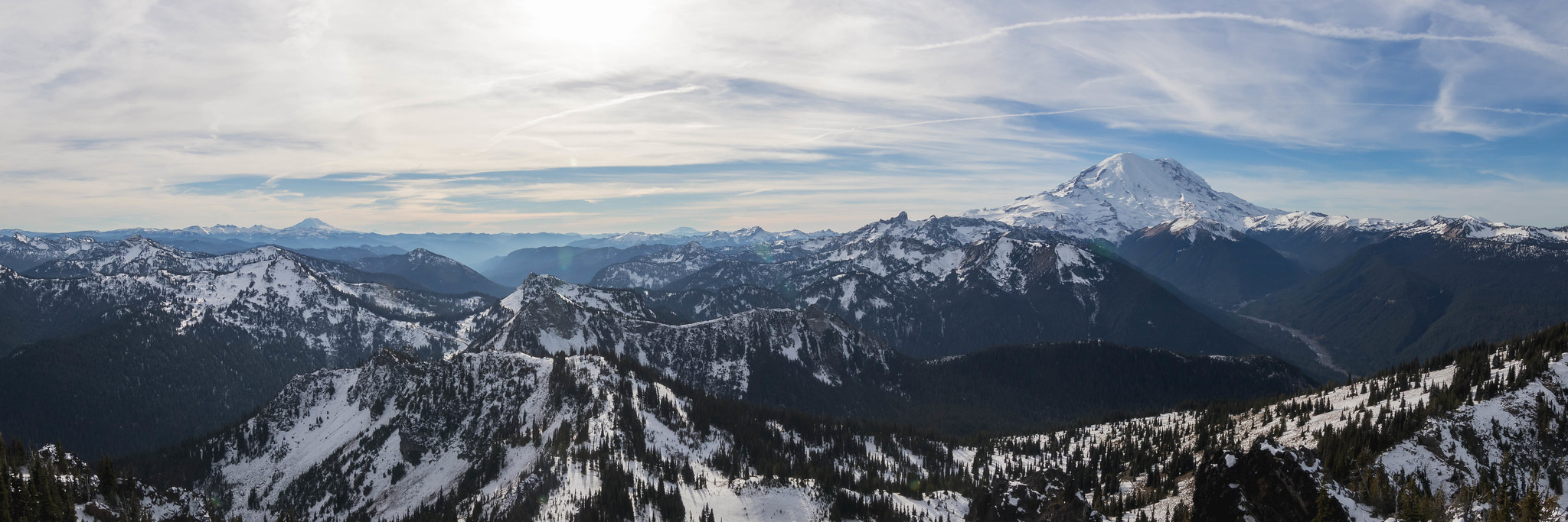 Southwest panoramic view from Chinook Peak