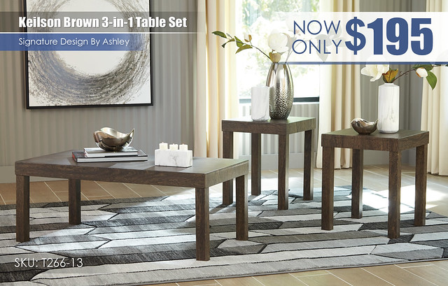 Keilson Brown 3 in 1 Table Set_T266-13