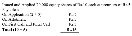 TS Grewal Accountancy Class 12 Solutions Chapter 8 Accounting for Share Capital Q68