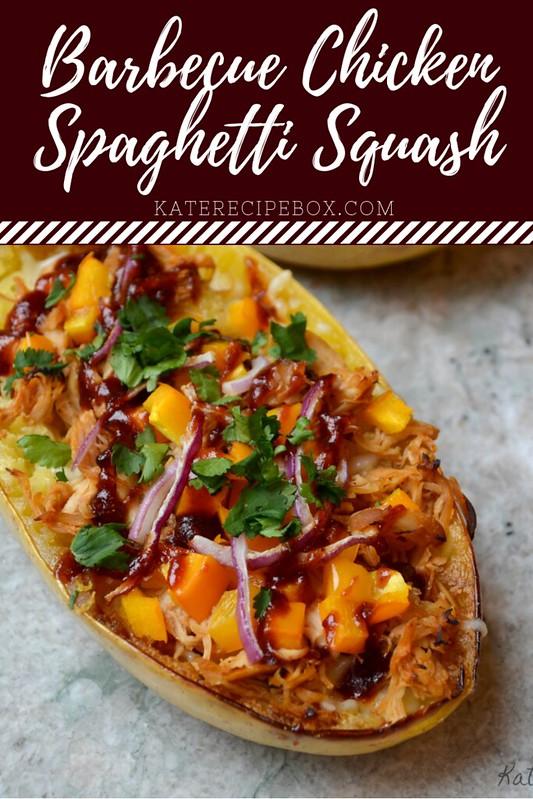 Barbecue Chicken Spaghetti Squash