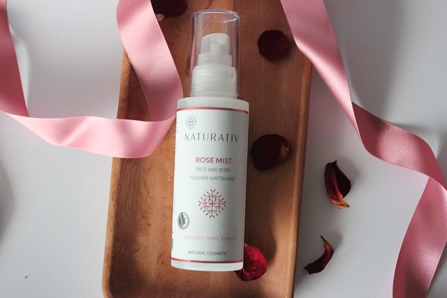 Naturativ rose face and body mist ruusuvesi suihke