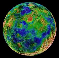Hemispheric view of Venus. Original from NASA. Digitally enhanced by rawpixel.