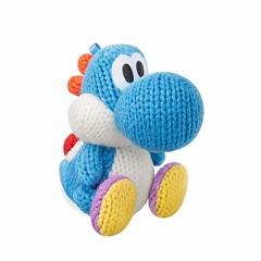 Adorable Light Blue Yarn Yoshi Amiibo