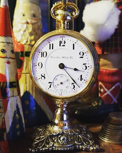 I also received this wonderful stand from which to hang my grandfather's watch. I look forward to many years of this watch marking the time as I write stories! #christmas #pocketwatch
