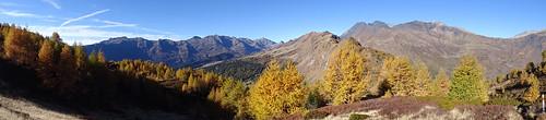 Herbstpanorama zwischen Cantonill und Pizzo Rosetto