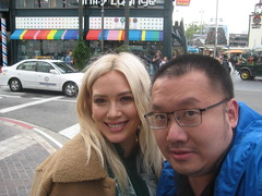 "David Sheng with actress Hilary Duff(""Cadet Kelly"")."