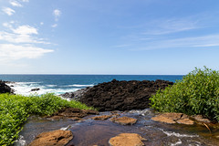 Above the waterfall Queen's Bath Kauai Hawaii