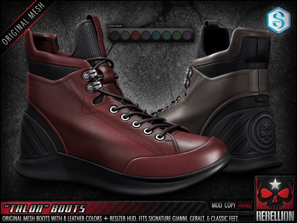 "= REBELLION = ""TALON"" BOOTS"