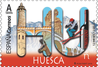 Spain - 12 Months, 12 Stamps: Huesca (January 2, 2019)