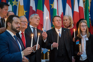Handover of the Flame of Peace of Bethlehem to the European Parliament