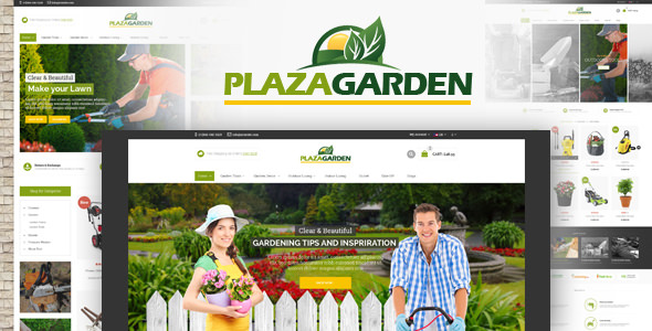 PlazaGarden – OpenCart Theme (Included Color Swatches)