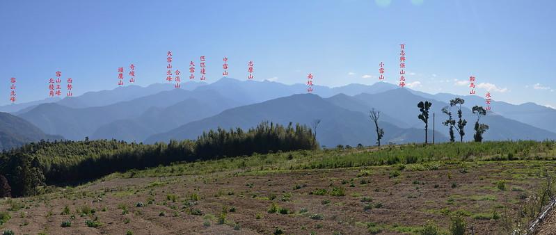 司馬限山山頂東南眺雪山山脈 1-1