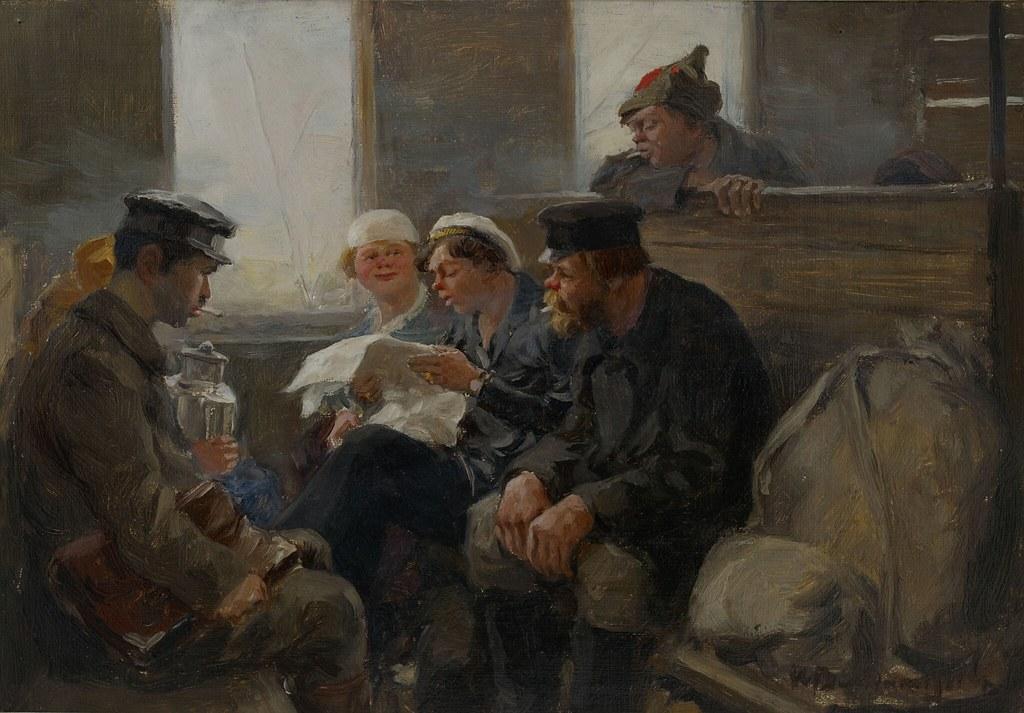 1919. Группа большевиков в поезде