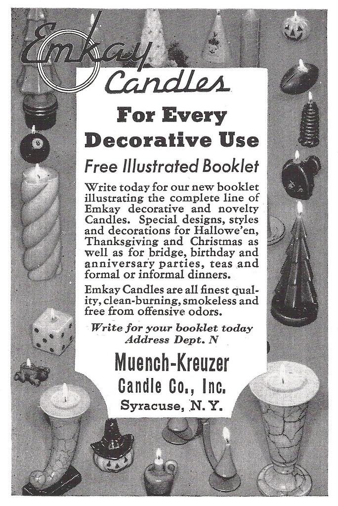 Emkay Candles 1940