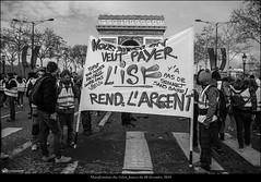 Paris, manifestation du 08 décembre 2018 des Gilets Jaunes Acte IV