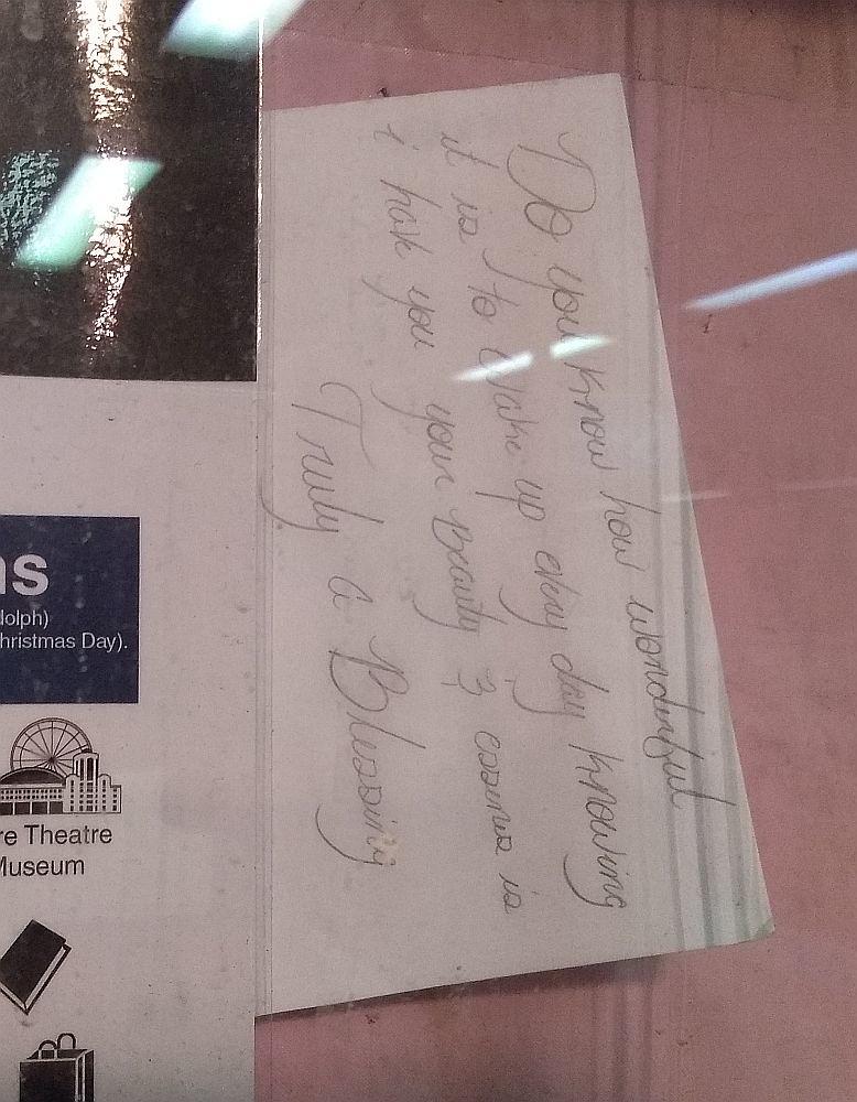 Note at Washington Wells CTA Station