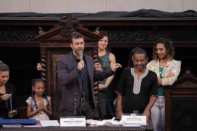 A fellow party member of human rights activist Marielle Franco, killed in March, Rio congressman Marcelo Freixo faces death threats - Créditos: ALERJ