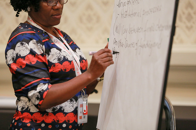 Facilitating group discussion at TTIX 2018