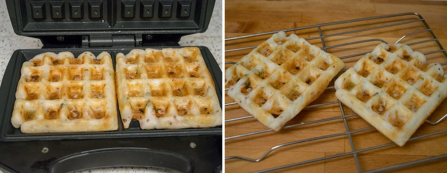 Dosa Waffle cooking steps by GoSpicy.net