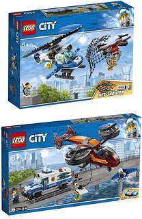 全新的降落傘零件登場,還有無人機呀!! LEGO 60206~60210 城市系列 空中警察主題 2019上半年部分盒組公開 Part 1!!