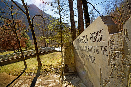 Swain County's Nantahala Gorge, donated by NC State alumnus Percy B. Ferebee.