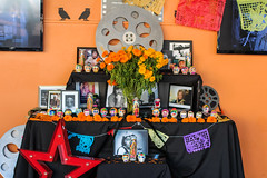 Dia de los Muertos altar celebrating Cinema Legends