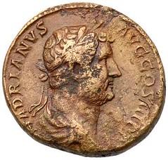 Hadrian ADVENTU AUG JUDAEA as obverse
