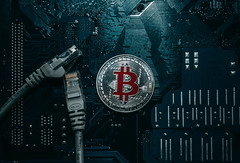 Bitcoin coin and network wire connector