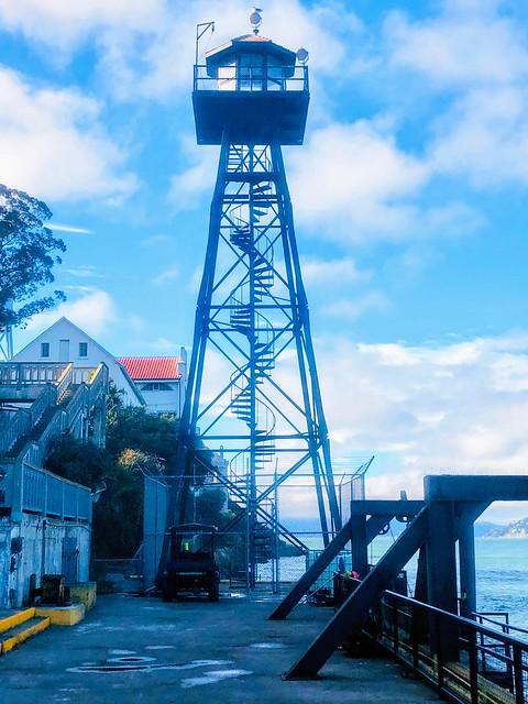 Guard Tower, Alcatraz Penitentiary, San Francisco, California, USA