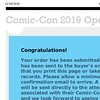 Helped my friends get & complete 4-day registrations for #SDCC2019! Got In under the wire before Saturday sold out around 9:35! #OpenReg2019 #SDCC #SDCC50