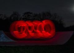 Red swirling lights