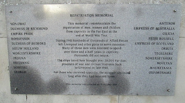Repatriation Memorial, Liverpool
