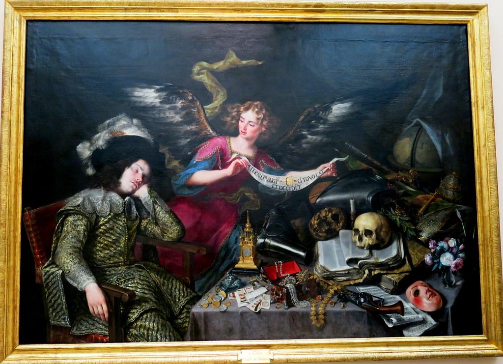 El sueño del caballero, Antonio de Pereda (1611-1678). Óleo sobre lienzo,