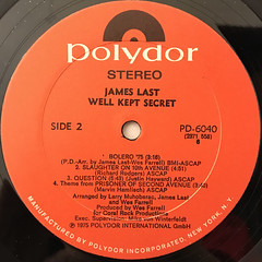 JAMES LAST:WELL KEPT SECRET(LABEL SIDE-B)