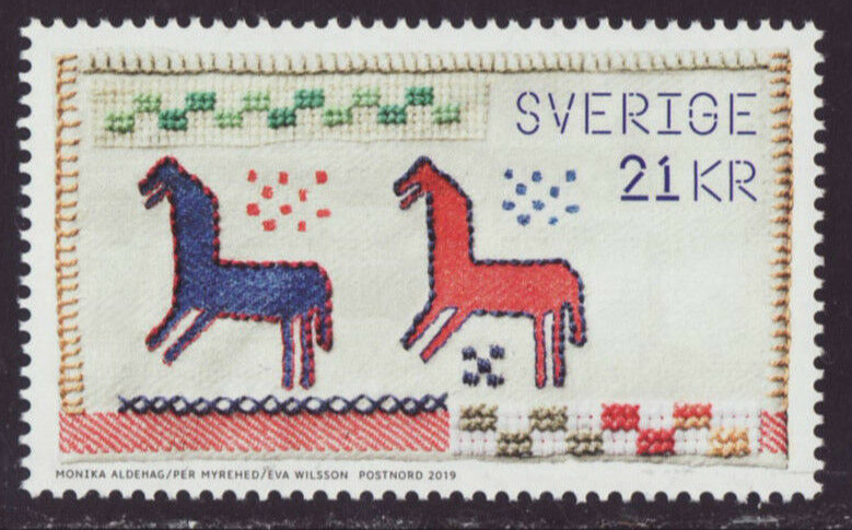 Sweden - The Power of Handicrafts (January 10, 2019) stamp from souvenir sheet