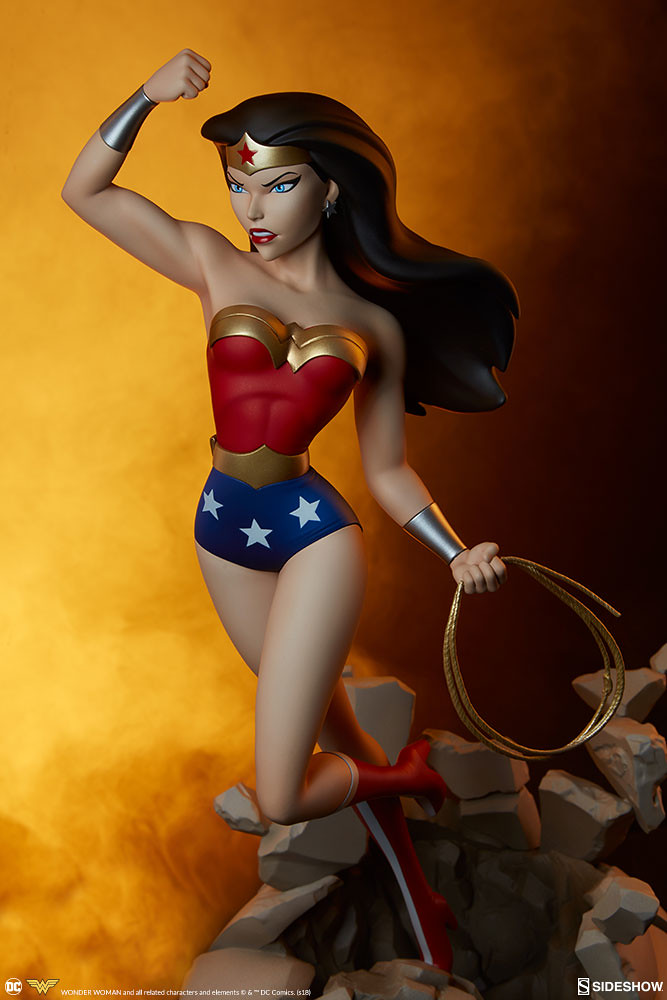 衝破一切障礙的強悍女神! Sideshow Collectibles DC The Animated Series【神力女超人】Wonder Woman 全身雕像作品