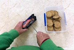 Opening a packet of biscuits 353/365 (4)