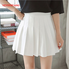 US $8.63 46% OFF|New Spring high waist ball pleated skirts Harajuku Denim Skirts solid a line sailor skirt Plus Size Japanese school uniform-in Skirts from Women's Clothing on Aliexpress.com | Alibaba Group