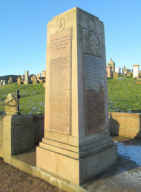 Peterhead Second World War Memorial Inscription