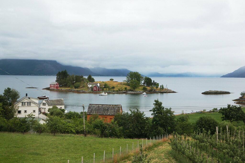 Fiordo vicino a Bergen