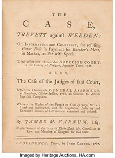 The Case Trevett against Weeden