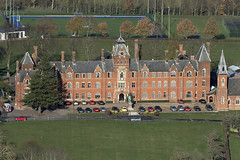 Framlingham College in Suffolk - aerial image