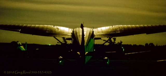 Stinson Reliant Gullwing in Moon light 1974