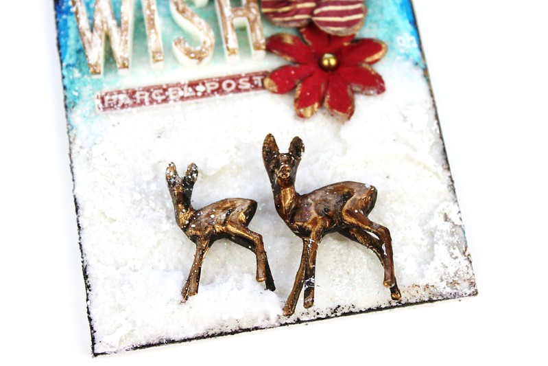 Meihsia Liu Simply Paper Crafts Mixed Media Christmas Tag Let It Snow Simon Says Stamp Tim Holtz 4