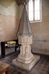 font (15th Century) and font cover (17th Century)